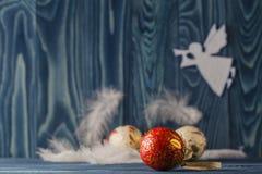 O anjo do Feliz Natal voa o fundo ano novo feliz 2007 Imagem de Stock