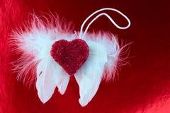 O anjo voa a foto tonificada amor do coração Foto de Stock Royalty Free