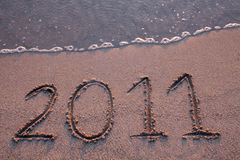 O ano 2011 está vindo imagem de stock royalty free