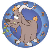 O ano da cabra Desenhos animados chineses do horóscopo Foto de Stock