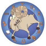 O ano da cabra Desenhos animados chineses do horóscopo Imagens de Stock Royalty Free