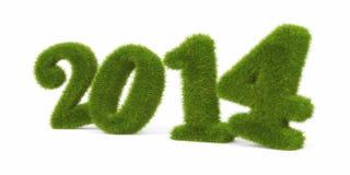 O ano em curso. Dígitos gramíneos imagens de stock
