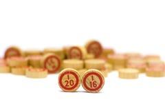 O ano 2016 em telhas de madeira do bingo Imagem de Stock