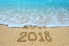O ano novo 2018 é conceito de vinda fotos de stock royalty free