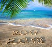 O ano novo 2018 é conceito de vinda Foto de Stock