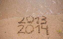 O ano novo 2014 é conceito de vinda Imagens de Stock Royalty Free