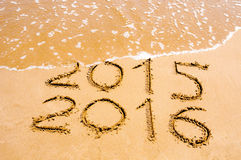 O ano novo 2016 é conceito de vinda Foto de Stock