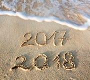 O ano novo 2018 é conceito de vinda Fotografia de Stock