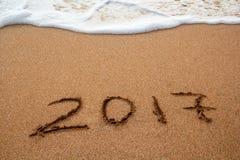 O ano novo 2017 é conceito de vinda Fotos de Stock