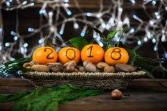O ano novo 2018 é conceito de vinda Imagens de Stock Royalty Free