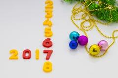 O ano novo 2017 é conceito de vinda O ano novo feliz 2017 substitui 201 Fotografia de Stock