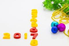 O ano novo 2017 é conceito de vinda O ano novo feliz 2017 substitui 201 Imagem de Stock Royalty Free