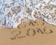 O ano novo 2016 é conceito de vinda, o ano novo feliz 2016 substitui 2015 Imagem de Stock