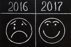 O ano novo 2017 é o conceito de vinda 2017 substitui 2016 Imagens de Stock