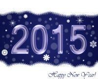 O ano novo carda 2015 imagens de stock