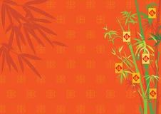O Ano Novo com bambu Imagens de Stock