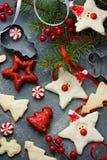 O ano novo do Natal trata para crianças e decorações do feriado, divertimento Imagem de Stock