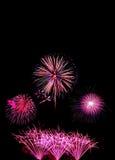 o ano novo dos fogos-de-artifício comemora - o isolador colorido bonito do fogo de artifício Fotos de Stock