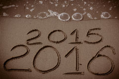 O ano novo 2016 está vindo Imagens de Stock