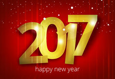O ano novo feliz 2017 3D rende o projeto Foto de Stock Royalty Free