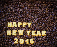 o ano novo feliz 2016 do alfabeto fez das cookies do pão Fotos de Stock Royalty Free