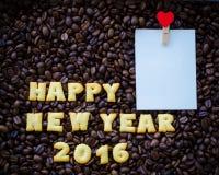 o ano novo feliz 2016 do alfabeto fez das cookies do pão Fotografia de Stock Royalty Free