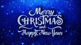O ano novo feliz do Feliz Natal deseja cumprimentos das part?culas, convite, fundo da celebra??o