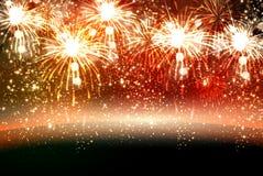 O ano novo feliz e o Natal vector a celebração fi Imagem de Stock