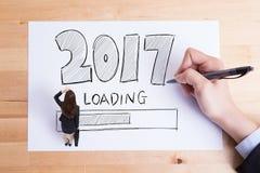 O ano novo feliz está carregando Foto de Stock
