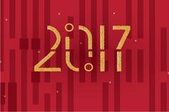 O ano novo feliz 2017 pontilha o fundo abstrato dos pontos Fotografia de Stock