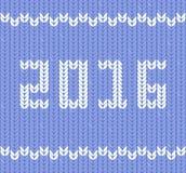 O ano novo 2016 fez malha a tela, teste padrão da malha Imagens de Stock Royalty Free