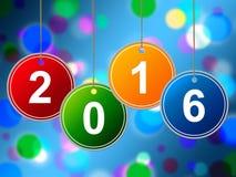 O ano novo mostra dois mil dezesseis e anuários Imagens de Stock