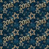 O ano novo na noite stars o teste padrão sem emenda 2 Imagens de Stock