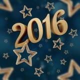 O ano novo na noite stars o teste padrão sem emenda 3 Fotografia de Stock