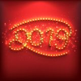 O ano novo numera 2019 feitos de ampolas ilustração royalty free