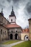O antechalember/portal nortes de basílico de St Procopius no  de TÅ™ebÃÄ fotografia de stock royalty free