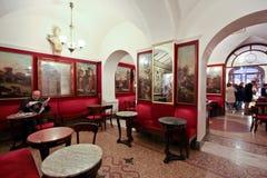 O Antico Caffè Greco em Roma Foto de Stock Royalty Free