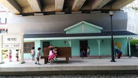 O antigo estação de caminhos de ferro imagem de stock