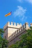 O antigo local de seda da troca em Valência, Espanha fotografia de stock royalty free