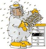 O apicultor ilustração stock