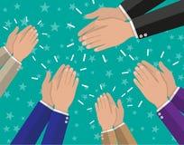 O aplauso de mãos humano aplaude ilustração royalty free