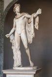 O Apollo do Belvedere imagens de stock