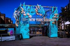 O aquário de New York fotografia de stock