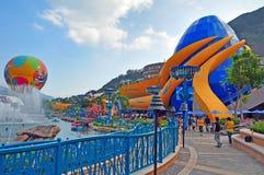 O aquário grande no parque do oceano Fotografia de Stock Royalty Free