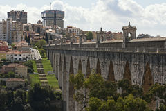 O aqueduto de Lisboa Foto de Stock