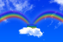 O arco-íris é nascido Fotografia de Stock Royalty Free