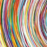 O arco-íris abstrato curvado alinha o fundo colorido Fotografia de Stock