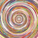 O arco-íris abstrato curvado alinha a parte traseira colorida do círculo Fotos de Stock Royalty Free