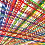 O arco-íris abstrato curvado listra o fundo da cor Foto de Stock