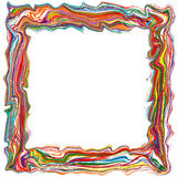 O arco-íris abstrato curvou a linha de cor fundo das listras do quadro Fotografia de Stock Royalty Free
